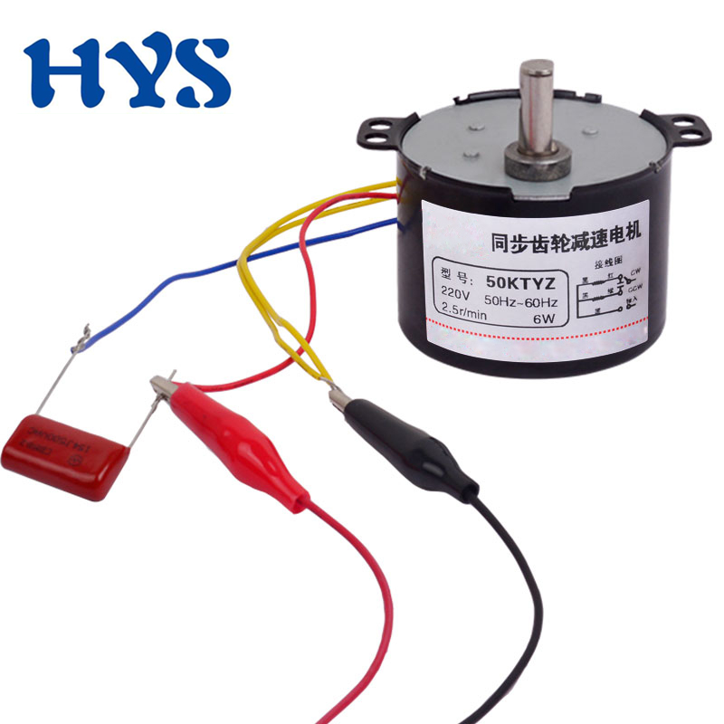 50KTYZ AC Motor Sincron 220V 110V Electric 220 V Volt Reduce Viteza Motoarelor 1/2/10/20/50/80/100/110rpm Mini Viteze Moter AC220V