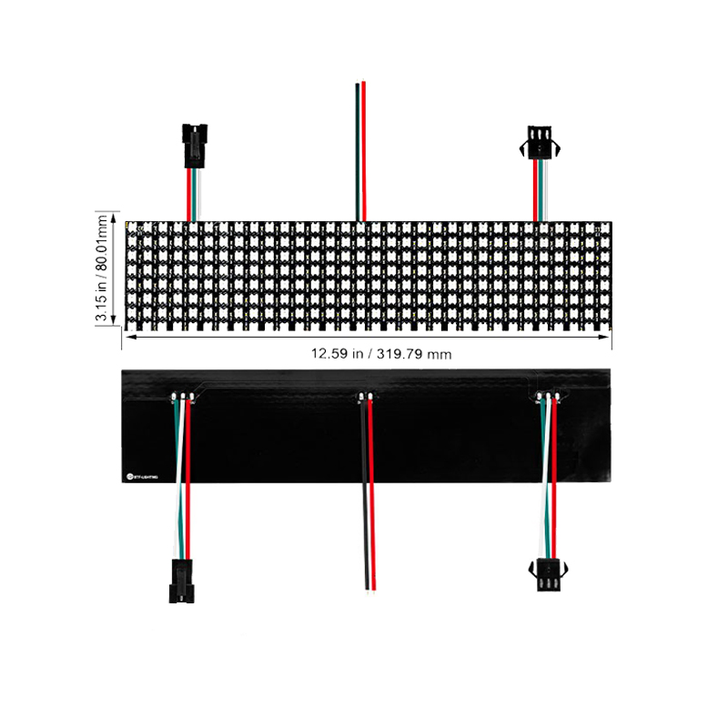 Modul led pixel panou de control WS2812b adressable matrice rgb letrero programabil DC5V SMD5050 flexibile led matrix display lumini