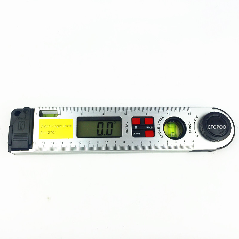0-270 grade Digital Unghi Finder Indicator Raportor Conducător Miltre Unghi Finder Cu dual Nivel de Spirit inclinometer